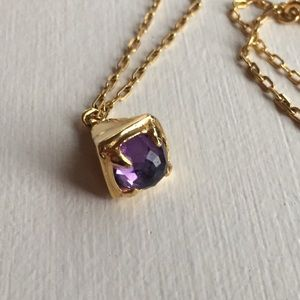 Jewelry - Amethyst and gold necklace